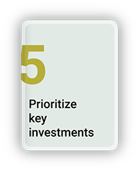 Prioritize Key Investments